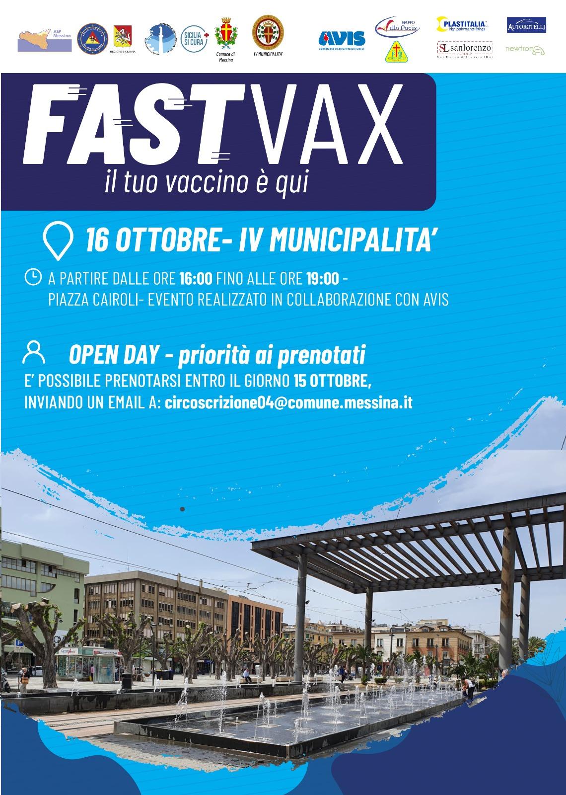 locandina fast vax vaccino covid a piazza cairoli