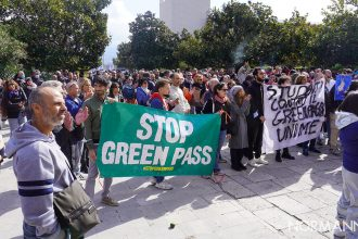 manifestazione no green pass a messina